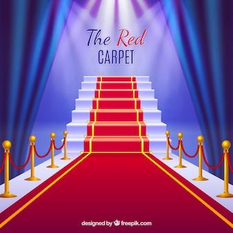 Fundo de tapete vermelho em estilo realista