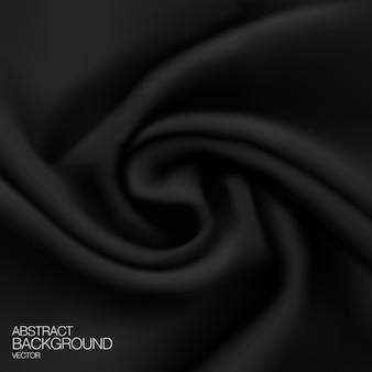 Fundo de tecido de seda preto.