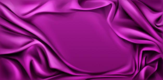 Fundo de tecido drapeado seda fúcsia.