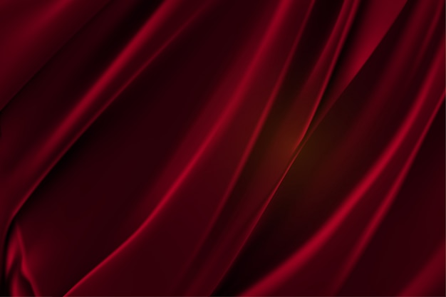 Fundo de tecido liso de cetim vermelho luxo