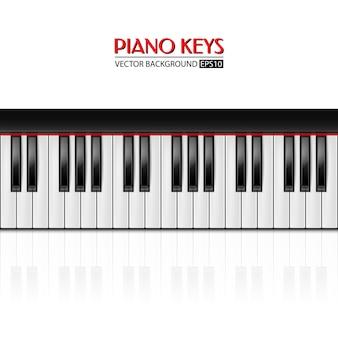 Fundo de teclas de piano