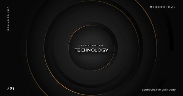 Fundo de tecnologia 3d de luxo escuro