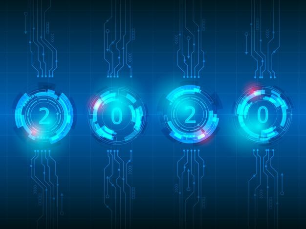 Fundo de tecnologia abstrata 2020