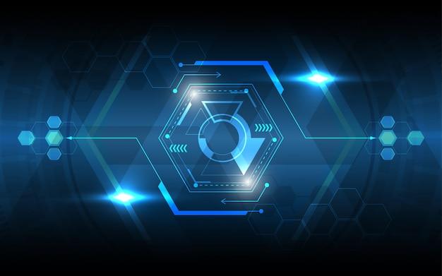 Fundo de tecnologia abstrata circuito hexagonal