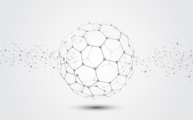 Fundo de tecnologia abstrata de conexão de rede global