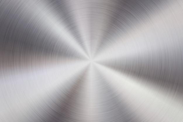 Fundo de tecnologia abstrata de metal com textura concêntrica polida circular
