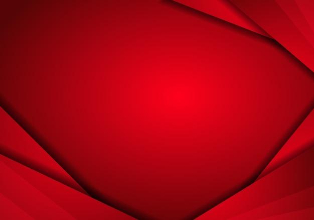 Fundo de tecnologia abstrata de metal vermelho com layout de quadro de triângulo