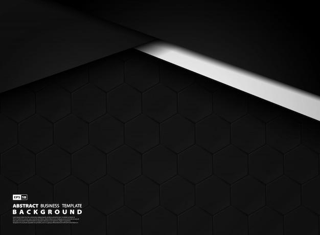 Fundo de tecnologia abstrata modelo escuro