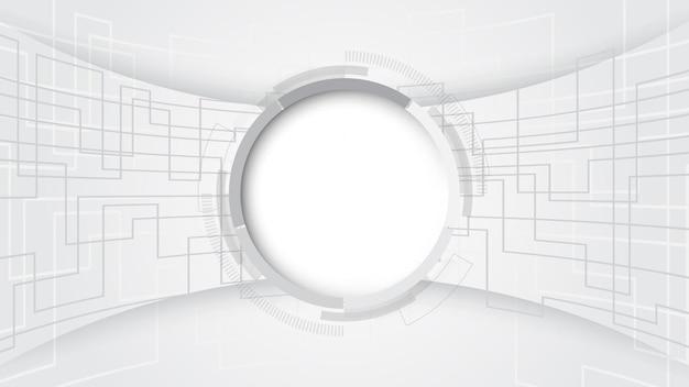 Fundo de tecnologia abstrato cinza branco