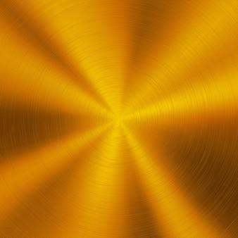 Fundo de tecnologia abstrato de metal dourado com textura circular polida aço cromo prata