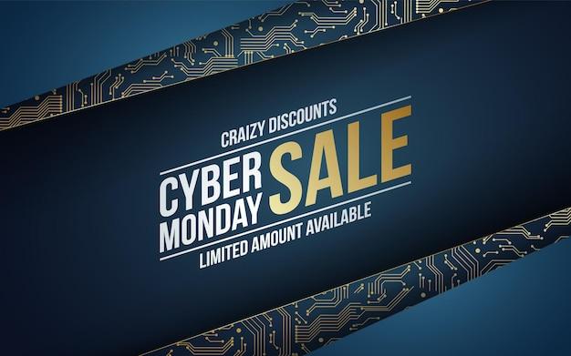 Fundo de tecnologia abstrato para venda da cyber monday