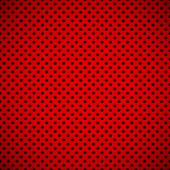 Fundo de tecnologia abstrato vermelho com textura de grade de alto-falante perfurada de círculo sem costura Vetor Premium