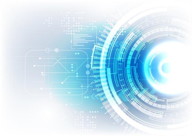 Fundo de tecnologia azul branco