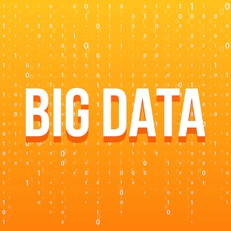 Fundo de tecnologia big data.
