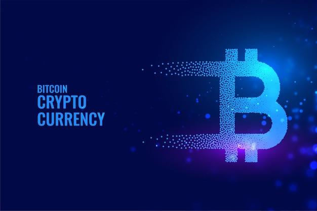 Fundo de tecnologia bitcoin em estilo de partícula
