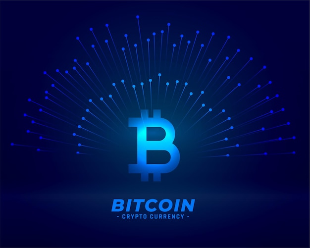 Fundo de tecnologia bitcoin para conceito de moeda digital