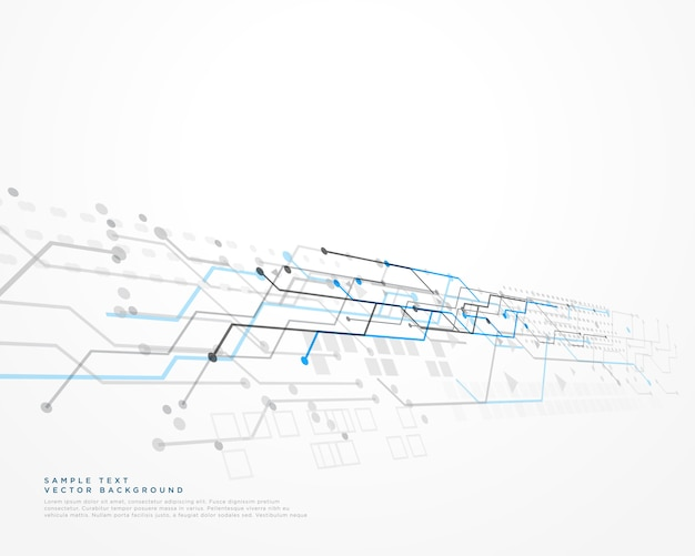 Fundo de tecnologia branca com diagrama de malha