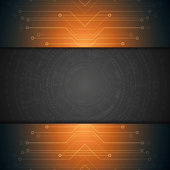 Fundo de tecnologia brilhante. desenho vetorial