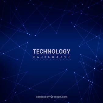 Fundo de tecnologia com céu noturno