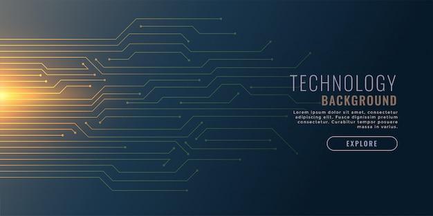 Fundo de tecnologia com diagrama de circuito