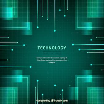 Fundo de tecnologia com estilo absracional
