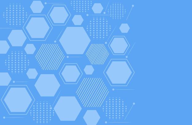 Fundo de tecnologia com hexágono geométrico