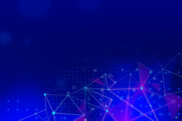 Fundo de tecnologia com linhas de conexão