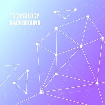 Fundo de tecnologia com linhas e pontos