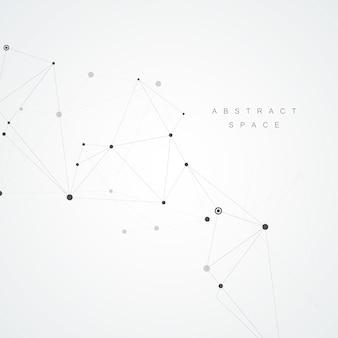 Fundo de tecnologia com moléculas abstratas