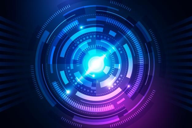Fundo de tecnologia com ondas
