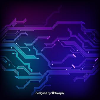 Fundo de tecnologia com placa de circuito