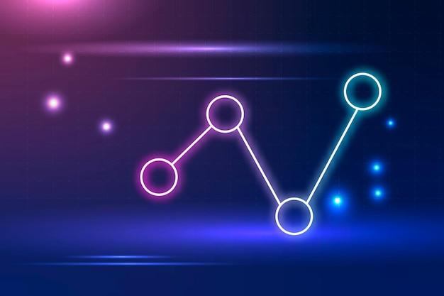 Fundo de tecnologia com pontos de conexão em tom azul
