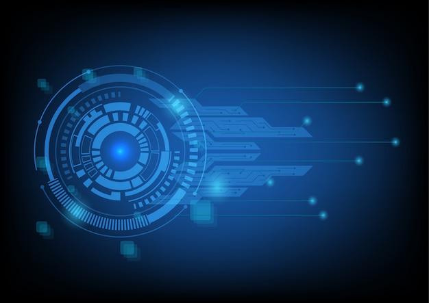 Fundo de tecnologia com tecnologia de círculo