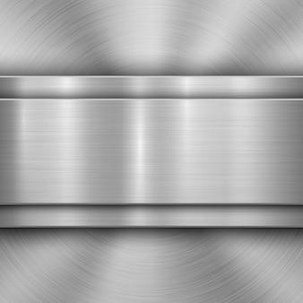 Fundo de tecnologia com textura de metal