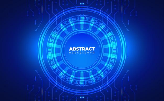 Fundo de tecnologia, conceito de placa de circuito. com efeito neon azul