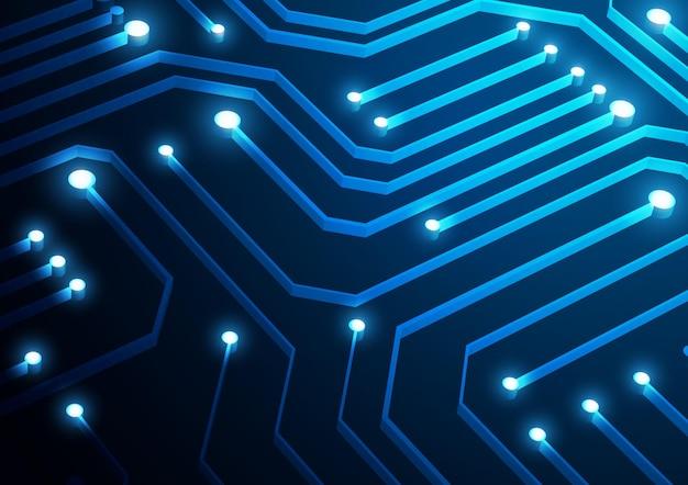 Fundo de tecnologia de circuito com conexão de dados digital de alta tecnologia