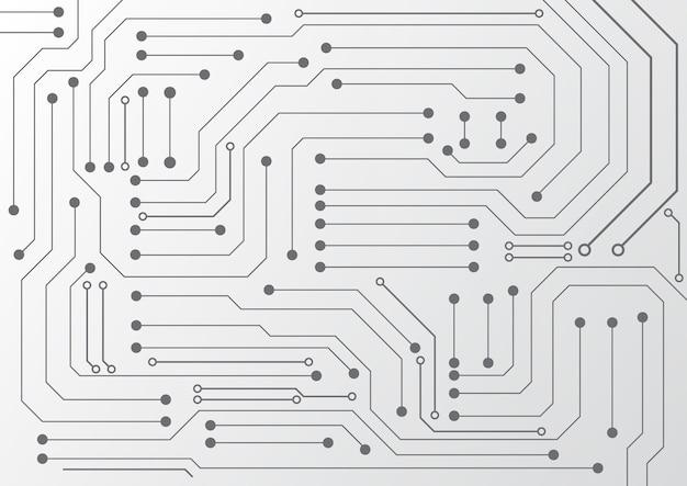 Fundo de tecnologia de circuito com sistema de conexão de dados digital de alta tecnologia e design eletrônico de computador