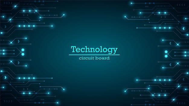 Fundo de tecnologia de circuito com sistema de conexão de dados digital de alta tecnologia e sistema eletrônico de computador