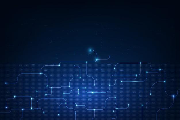 Fundo de tecnologia de circuito de computador abstrato