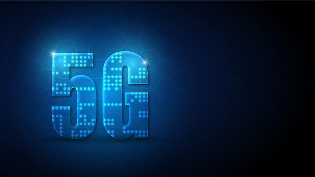 Fundo de tecnologia de circuito de velocidade 5g com sistema de conexão de dados digitais de alta tecnologia e computador eletrônico