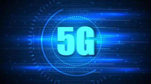 Fundo de tecnologia de circuito de velocidade 5g