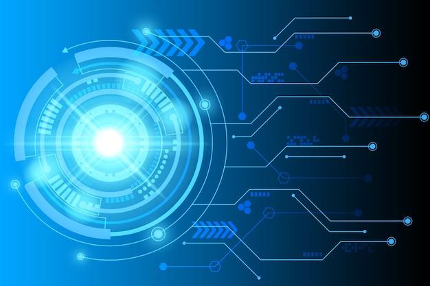 Fundo de tecnologia de circuito futurista abstrata