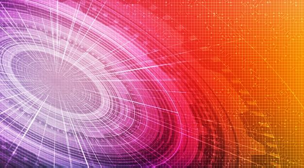 Fundo de tecnologia de círculo de alta tecnologia