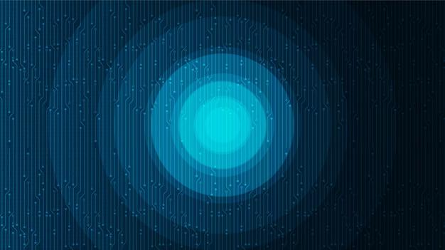 Fundo de tecnologia de círculo digital