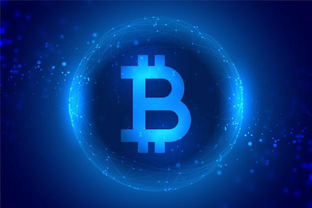 Fundo de tecnologia de conceito de moeda digital bitcoin