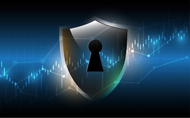 Fundo de tecnologia de conceito digital cyber segurança