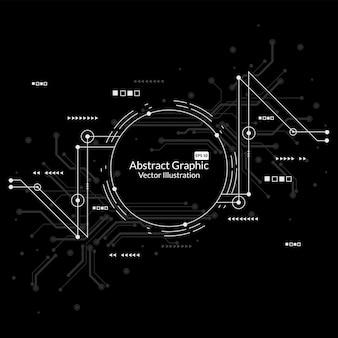 Fundo de tecnologia de conexão de rede abstrata
