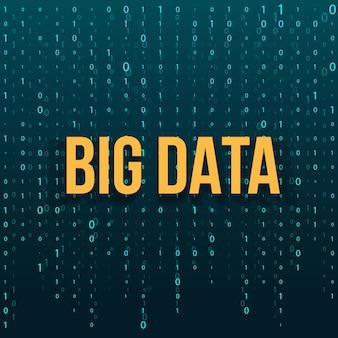 Fundo de tecnologia de dados grandes.