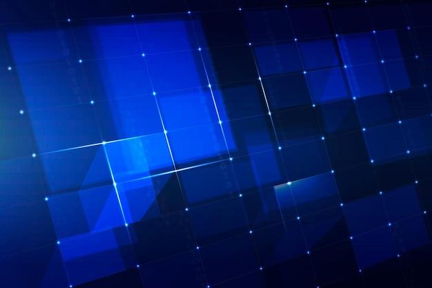 Fundo de tecnologia de grade digital em tom azul