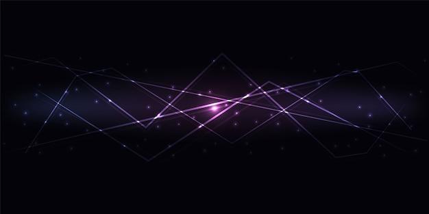 Fundo de tecnologia de inovação abstrata escuro.